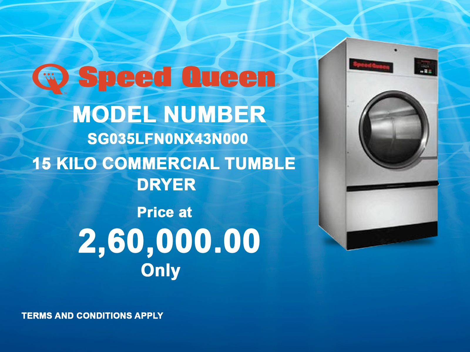 15 Kilo Commercial Tumble Dryer